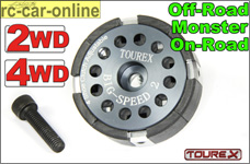 Tourex TXLS810 Big Speed-2 4-shoe clutch for FG HPI Baja Losi 5ive-T/Desert Buggy and more