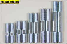y0782 Electrogalvanized M8 steel turnbuckles - all lengths,
