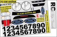 y0044/01 Pick Up Truck Fahrzeug-Dekorbogen