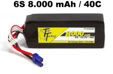 TT1530/680 Top Tuning 8000 mAh LiPo Akku 6S, 22,2V 40C Angeb