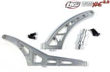 DBXL018/019 ATOP Aluminium Chassisstrebe hinten 1+2 für