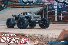 ARA5210 ARRMA 1/5 OUTCAST 4WD EXtreme Bash Roller Stunt Truck, Black