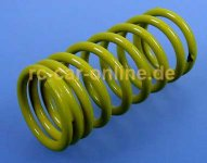 10192 FG Damper spring for F1 progessive 2,3x48mm yellow