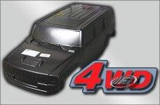 36130 FG Karosserie Monster/Stadium-Hummer H2 4WD schwarz, 1