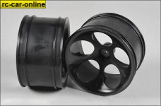 60201 FG Off-Road Buggy wheel wide, black, 2 pcs.