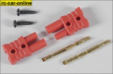6545 FG gold contact plug-in system 2mm - 2pcs.