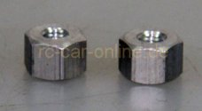 66285/01, FG Alloy spacer hex 10x7, 2 pcs.