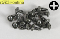 6716/13 FG Pan-head tapping screws 4,2x13 mm, 15 pieces