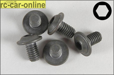 6717/16 FG Lenticular flange head screw M6 x 10 mm, 5 pcs.