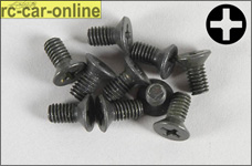 6718/08 FG Countersunk screw with cross recess M4x8 mm, 10 p
