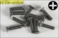 6718/14 FG Countersunk screw with cross recess M4x14 mm, 10