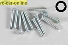 6719/20 FG Countersunk screw M3x20 mm, 10 pieces