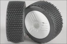 67209/06 FG Mini-Pin H / OR-Reifen,Felge weiß, verkleb
