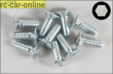 6722/14 FG Recessed countersunk screw M5x14 mm, 10 pieces