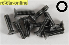 6722/20 FG Recessed countersunk screw M5x20 mm, 10 pieces