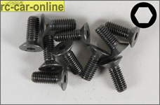 6723/16 FG Rec.counters.head screws,M6x16 mm, 10 pieces