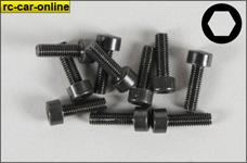 6724/12 FG Socket head cap screws M3x12 mm, 10 pieces