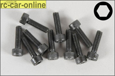 6725/14 FG Socket head cap screws M4x14 mm, 10 pieces