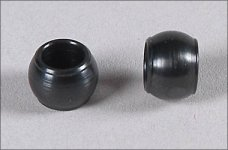 67260/01 FG Steel ball Ø7 x 5mm, hole 4mm for Leopard
