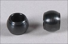 67260/02 FG Steel ball Ø7 x 5mm, hole 5mm for Leopard