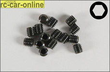 6728/03 FG Allen Grub screw M3x3 mm, 15 pieces