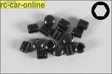 6730/05 FG Gewindestift mit Innensechskant M5x5 mm, 15 Stück