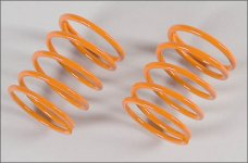 67312 FG Damper spring orange, 2,4x40mm Leopard 2WD/4WD, 2pc