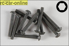 6737/20 FG Pan-head cap screw M3x20 mm, 10 pieces