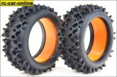 67812/01 FG 1:6 OR-Reifen, CROSS X, Extra soft/Einlagen, 2 S