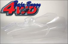 68150/01 FG Body shell Off-Road Buggy 4WD, clear - 1 pcs.