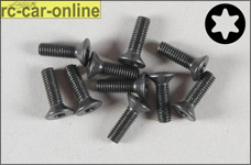 6918/10 FG Countersunk screw with Torx M3x10 mm, 10 pieces
