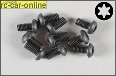 6925/08 FG Pan-head screw with Torx M4x8 mm, 10 pieces