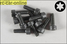 6932/12 FG Socket head cap screw with Torx M4x12 mm, 10 piec