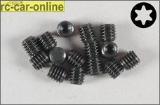 6933/06 FG Grub screw with Torx M6 x 6 mm, 15 pieces