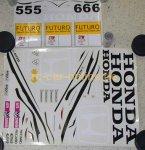 7257 FG Team-Dekorbogen Honda Accord - Set