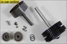 7452 FG 2-Gang Getriebe 1:5 4WD für Sportsline 4WD, Set
