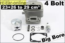 7786 FG Original Zenoah 4 Bolt Cylinder/Piston set from 23 c