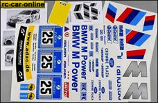 8185 FG Team-Dekorbogen BMW M3 ALMS, Set