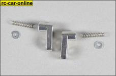8474/07 FG Alu Bowdenzughalter kurz, gebogen 2 St.