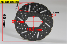 GLO5T039 GPM Carbon fiber brake disk for Losi 5ive-T and Min