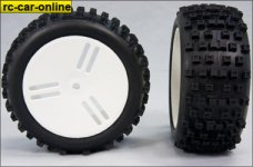 """GWH71  GRP 1:6 Buggy """"BULDOG"""" tire glued, 18 mm sq"""