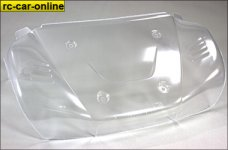 LOSB 8101 Hood/Front Fenders Body Section clear  5T, 1 pce.