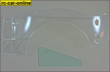 LOSB 8103 Body Left Fender and Plate clear 5T, 2 pcs.
