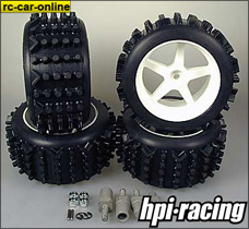Mammoth offroad tires extra wide for HPI Baja, mounted and g