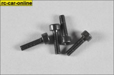 1000-33 Mecatech screws M3x16 allen head, 8 pcs.