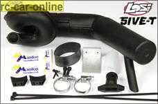 Mielke 5185 Big Power Schalldämpfer Set für Losi 5