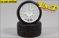 R300 Profile Rain tires PMT-Supreme, mounted & glued, 2