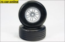 Roadies Roll Formel 1 Reifen Front fertig verklebt auf silbe