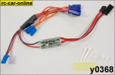 Servo direct power supply cable with electronic switch, 1 pc
