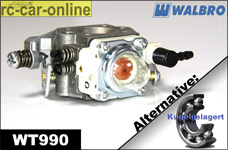 Carburetor Walbro WT 990 normal/ball-raced